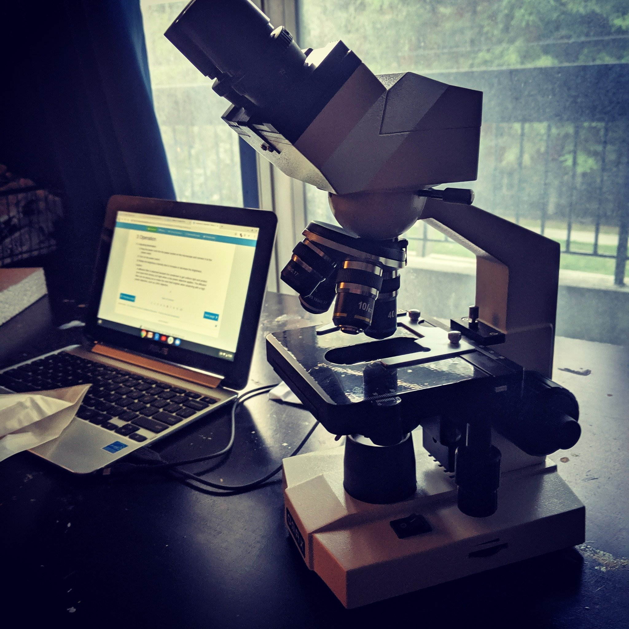 OMAX binocular microscope